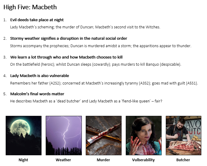 High Five Macbeth
