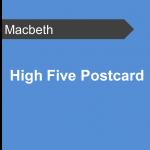 High Five Postcard - Macbeth Teaching Resource