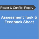 AQA Power and Conflict Poetry - Assessment Task Feedback Sheet
