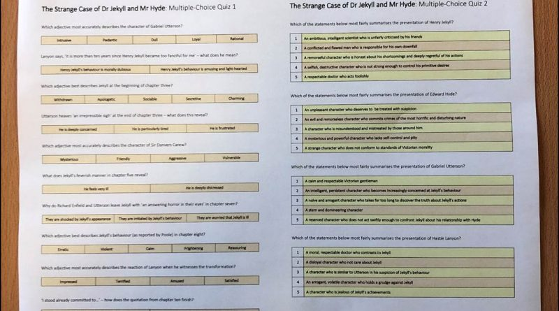 GCSE English Literature Multiple Choice