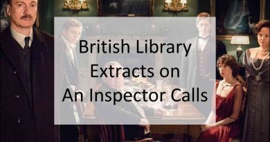 British Library Extracts on An Inspector Calls