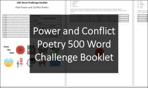 AQA Power and Conflict Poetry 500 Word Challenge Booklet