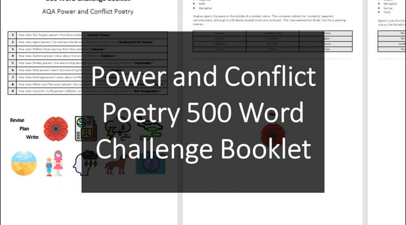 Power Conflict 500 Word Challenge
