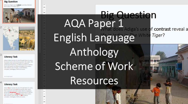 AQA Paper 1 English Language Anthology