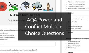 AQA Power and Conflict Multiple-Choice Questions