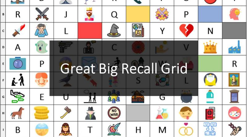 Great Big Recall Grid