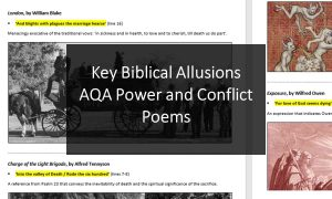 Key Biblical Allusions AQA Power and Conflict Poems