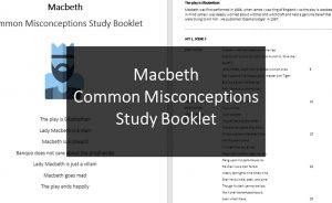 Macbeth Misconceptions Study Booklet