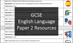 GCSE English Language Paper 2 Resources