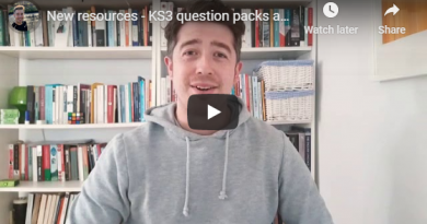 Video #2 – KS3 question packs and R&J wider reading booklet