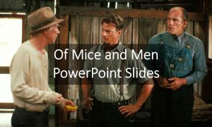 Of Mice and Men Study Booklet PowerPoint Slides