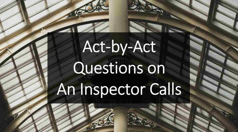 An Inspector Calls Teaching Resource