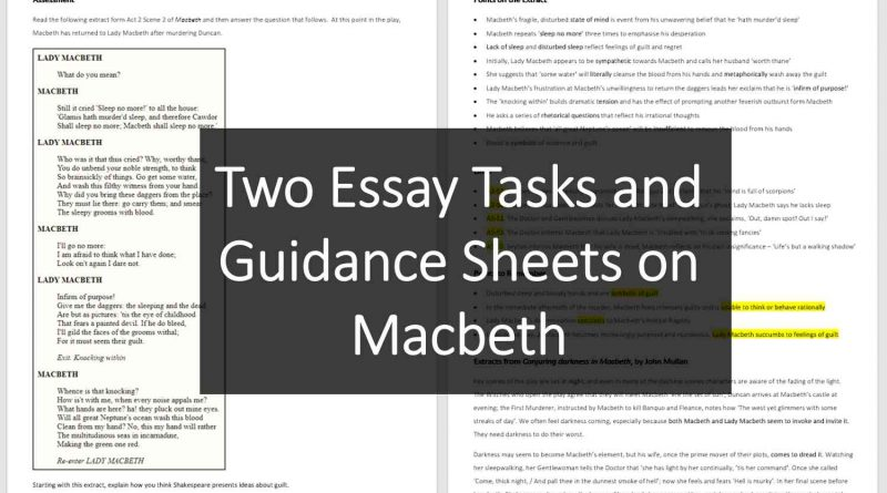 Macbeth Teaching Resource