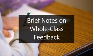 Brief Notes on Whole-Class Feedback