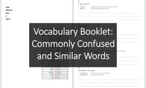 Vocabulary Booklet: Commonly Confused and Similar Words