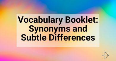 Vocabulary Booklet Douglas Wise