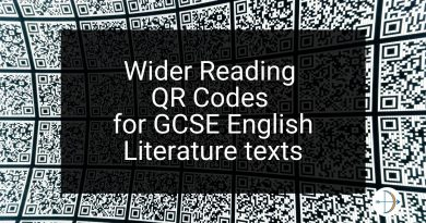 Wider Reading QR Codes for GCSE English Literature texts