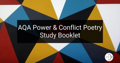 AQA Power and Conflict Poetry Study Booklet | KS4 Teaching Resource