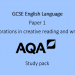 GCSE English Language Paper 1 Study Pack