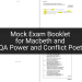 Mock Exam Booklet for Macbeth and AQA Power and Conflict Poetry | KS4 Teaching Resource